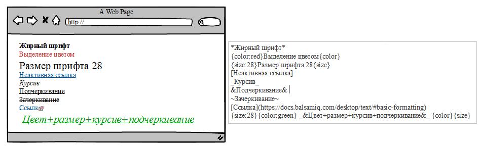 balsamiq prototype A Web Page