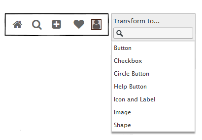 balsamiq prototype Transform